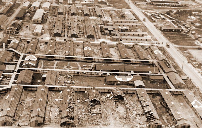 Общий вид типового британского госпиталя. Этапле, Франция, 1915 г.