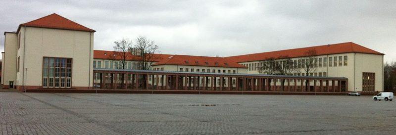 Бывшая школа связистов в Галле.