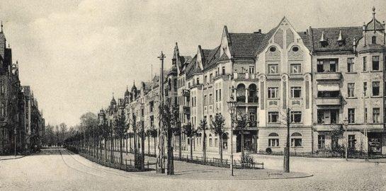 Кайзерштрассе до войны и после штурма Бреслау.