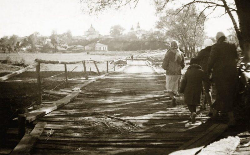 Немецкая переправа на реке Эсмань. Сентябрь 1941 г.