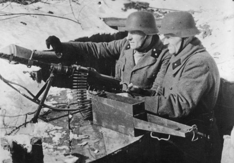 Немецкое пулеметное гнездо. Февраль 1945 г.