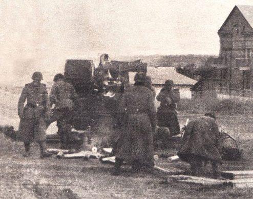 Обстрел немцами отходящих судов. 8 октября 1941 г.