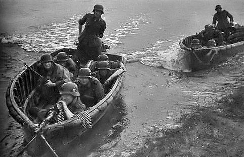 Форсирование Днепра немцами. Сентябрь 1941 г.