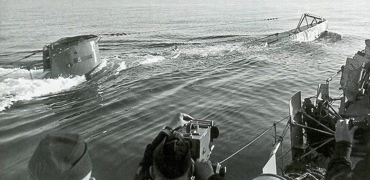 Всплытие подлодки «U-58» на ходовых испытаниях. Октябрь 1939 г.
