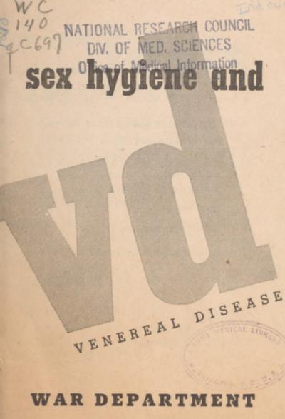 Обложка брошюры «Половая гигиена и венерические заболевания».