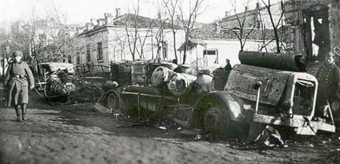 Немцы в городе. Октябрь 1941 г.