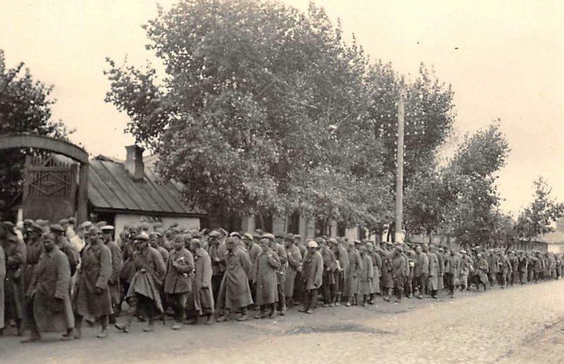 Советские военнопленные. Октябрь 1941 г.