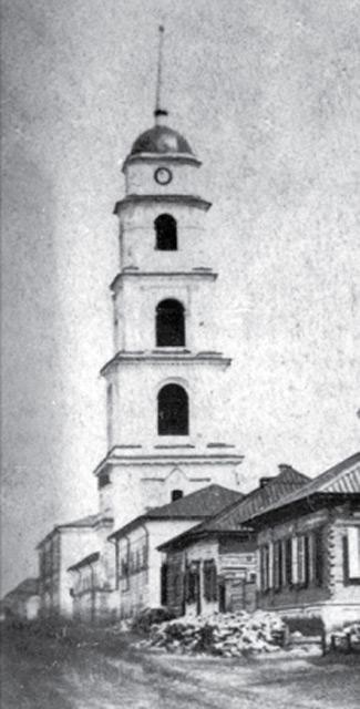 Колокольня Троицкого собора на Киево-Московской улице. 1942 г.