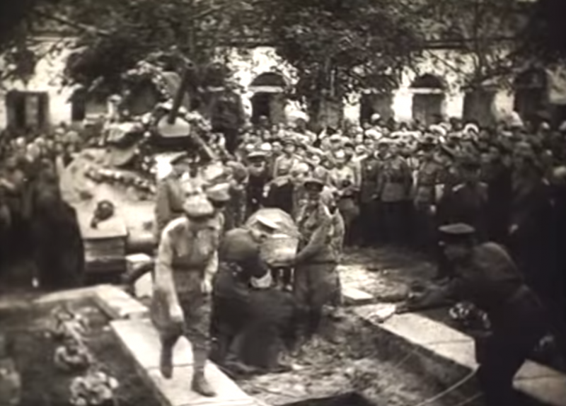 Похороны генерал-майора Рудченко Г.С. Сентябрь 1943 г.