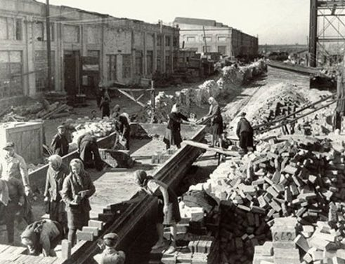 Восстановление завода «Азовсталь». 1943 г.