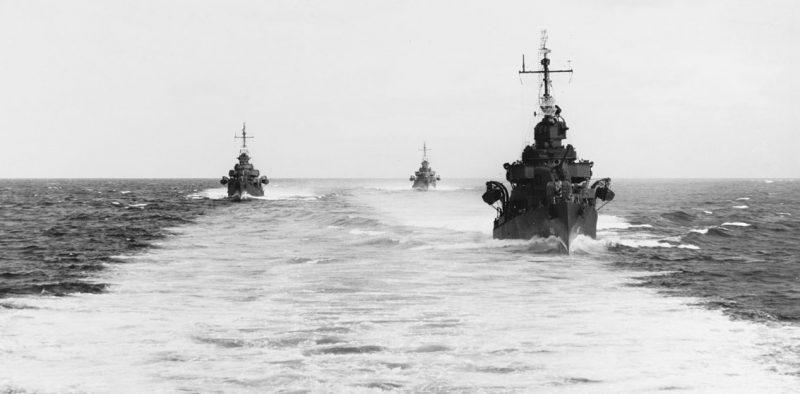 21 эскадрон эсминцев близ острова Велья-Лавелья.