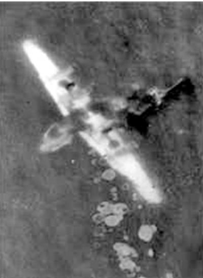 Самолет B-24 на дне моря, после катастрофы.