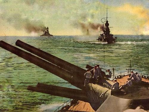 Конвой военных кораблей Японии. Январь 1942 г.
