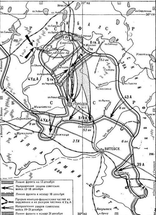 Карта-схема Городокской операции.