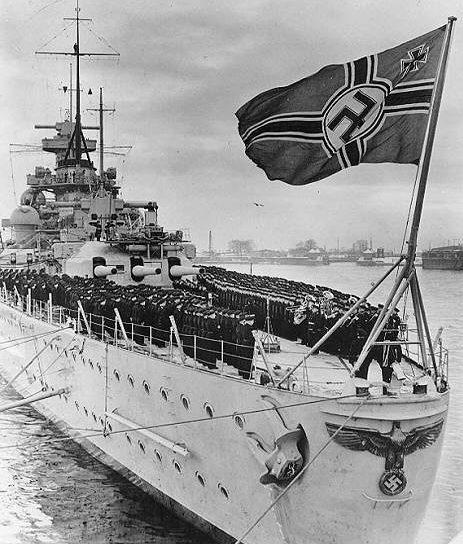 Линкор «Шарнхорст» в 1939 году.