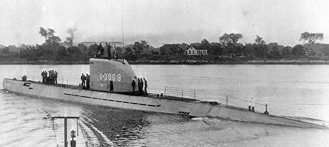 Подлодка типа XXI аналогичная U-3523.