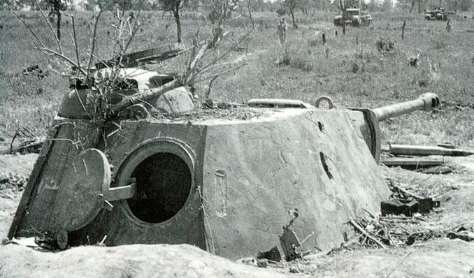 ДОТ с башней танка «Пантера».