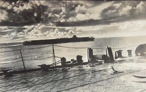 Авианосец Имперского флота «Рюйо» во время вторжения в голландскую гавань. Аляска, 1942 г.