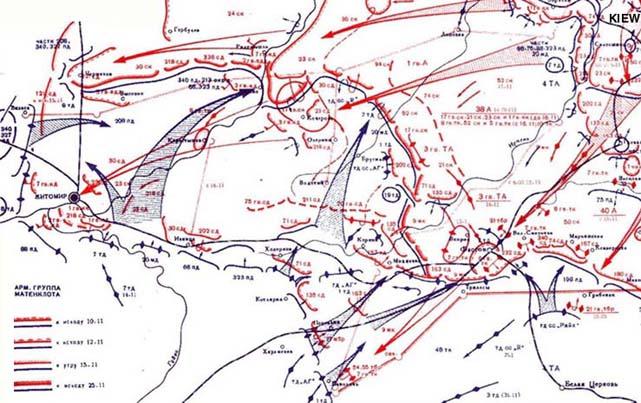 Боевые действия в ходе Киевской оборонительной операции с 10 по 25 ноября 1943 года.
