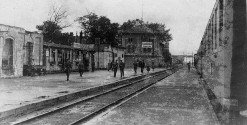 Железнодорожная станция Знаменка. Июль 1942 г.