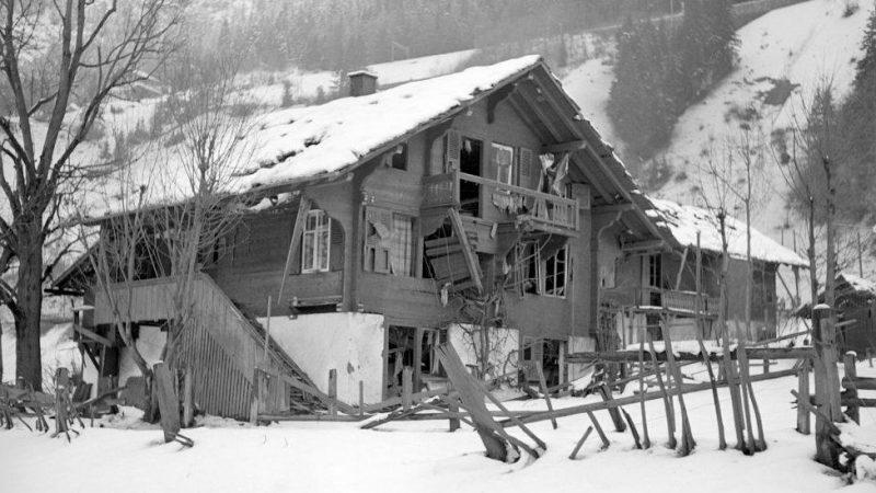 Последствия взрыва в селе в 1947 году.