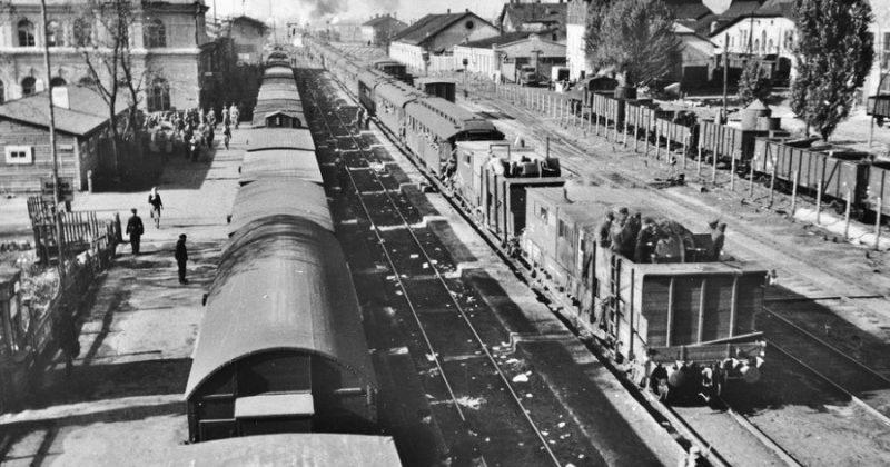 Станция Знаменка. 1941 г.