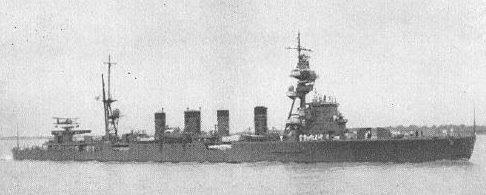 Легкий крейсер «Сэндай», потопленный американцами.