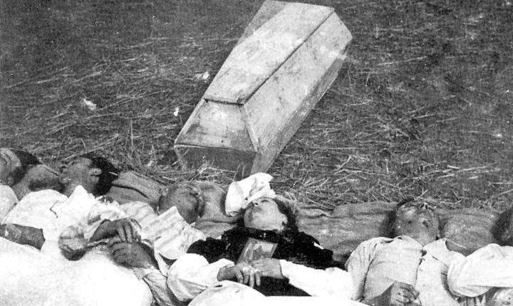 Жертвы резни 11 апреля 1943 года в имении Чобултув.