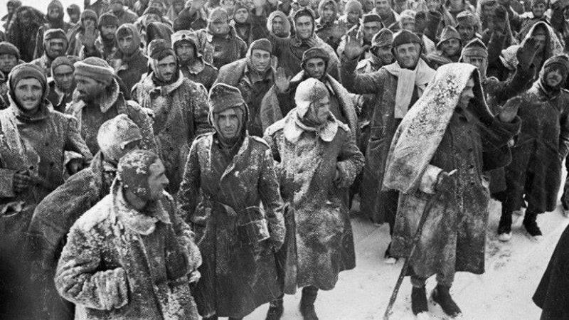 Пленные итальянцы под Сталинградом. 1943 г.