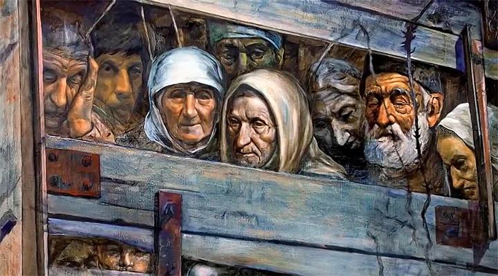 Депортация карачаевцев глазами художника.