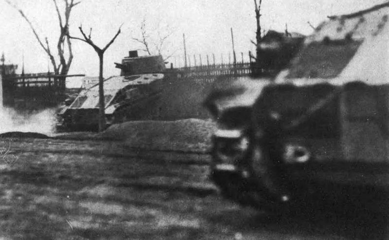 Японские танки атакуют. Февраль 1932 г.