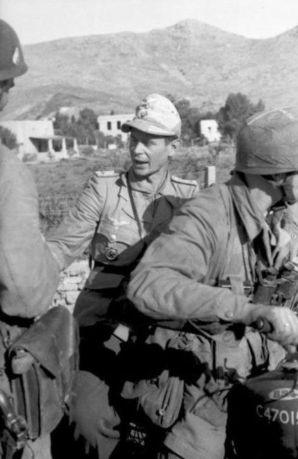 Немецкие войска на Леросе.