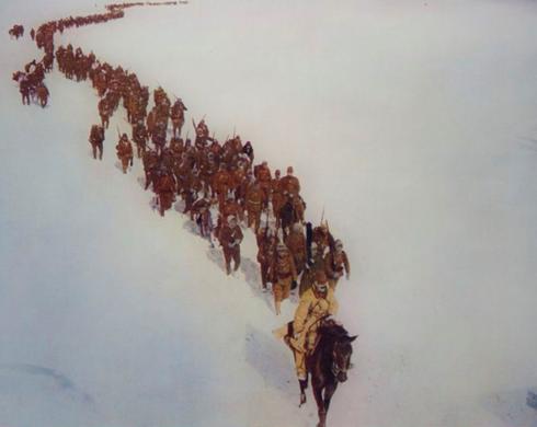 Солдаты Квантунской армии во время японского вторжения в Маньчжурию. 1932 г.