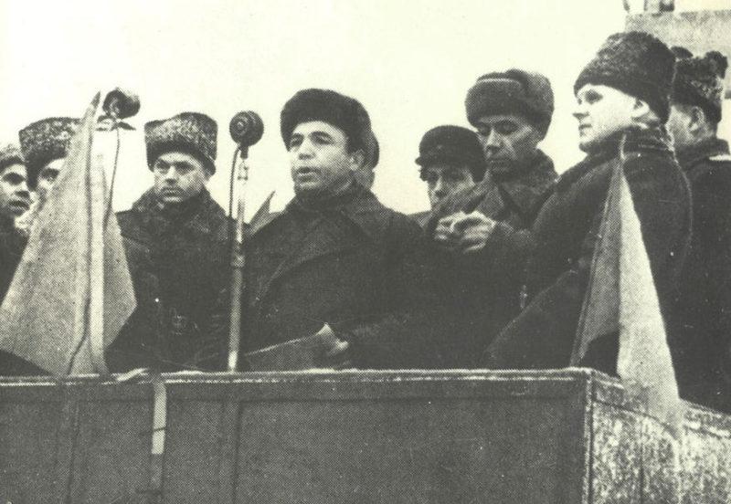 Митинг в честь освобождения Гомеля.