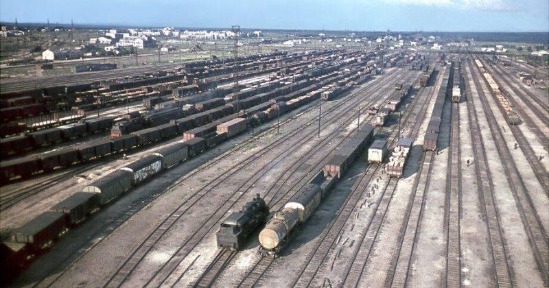 Сортировочная станция Знаменка. Июль 1943 г.