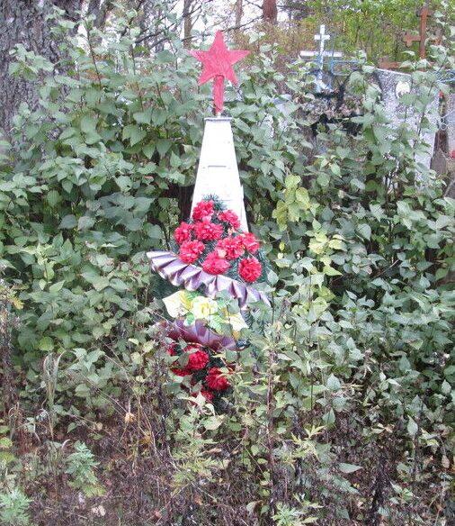 д. Большое Аретово Демидовского р-на. Братская могила 7 советских воинов.