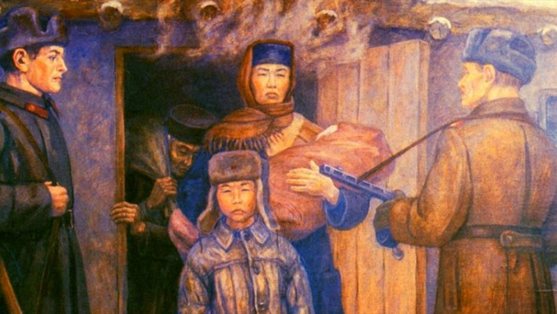 Депортация калмыков глазами художника.