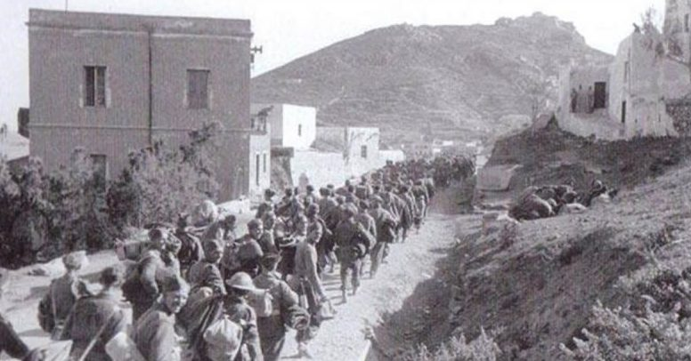 Военнопленные британцы на Леросе.