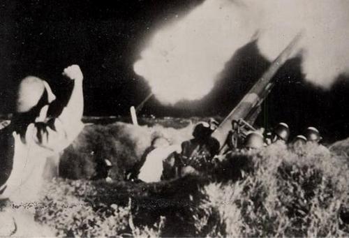 Обстрел ночью крепости Коррегидор. 1942 г.
