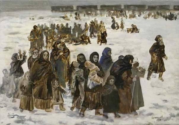 Депортированные в Казахстане глазами художника.