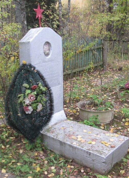 д. Борода Демидовского р-на. Могила Каплина Н.В. - военного инженера, погибшего в бою.