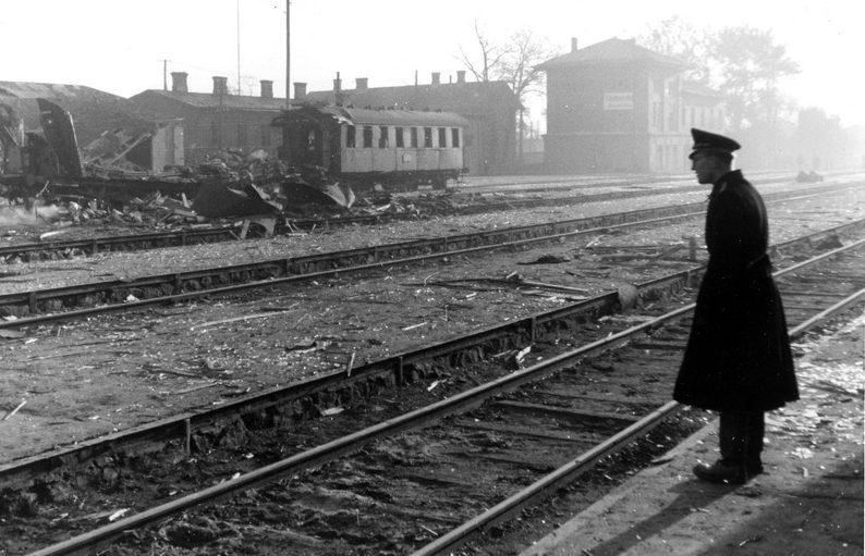 Результаты партизанских диверсий на станции Знаменка. 1943 г.