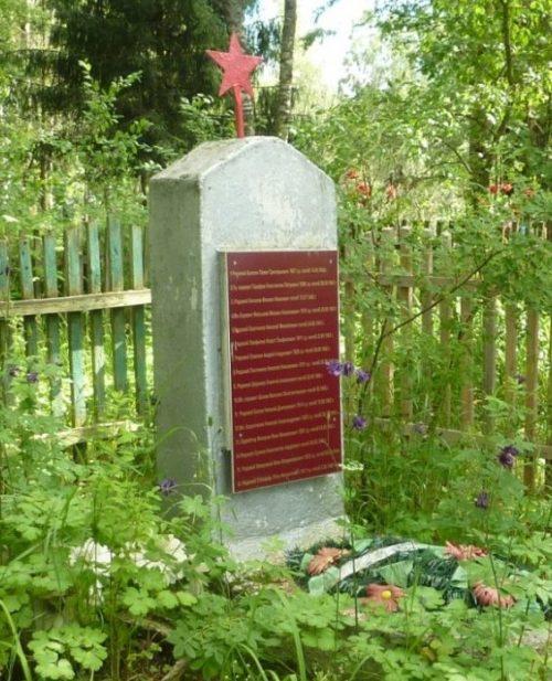 д. Борода Демидовского р-на. Обелиск, установленный в 1965 году на братской могиле, в которой похоронено 10 советских воинов, погибших в годы войны.