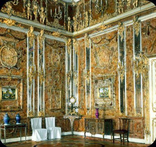 Янтарная комната до начала Второй мировой войны.