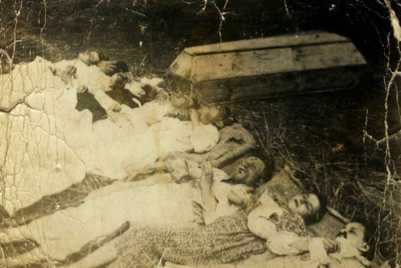 Семья Рудницких, убитая украинскими националистами в селе Чебултова.