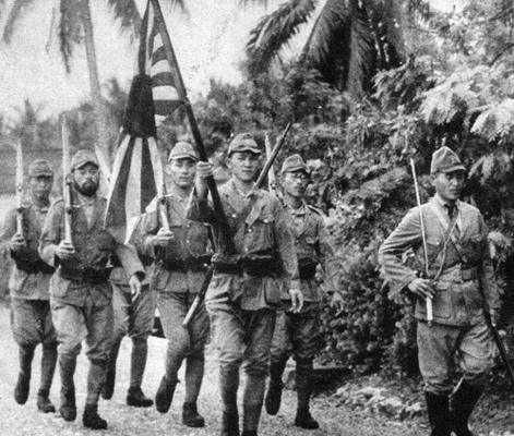 Солдаты спецназа ВМС Японии. Новая Гвинея, 1942 г.