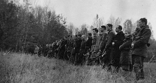 Бойцы польской самообороны села Пшебраже.