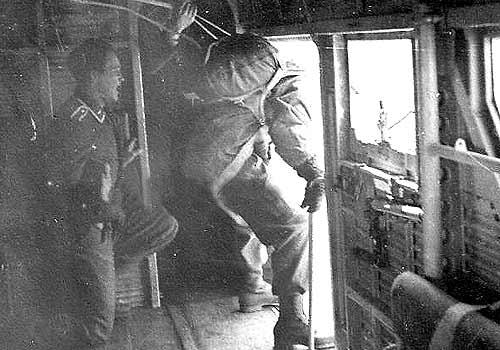Обучения прыжкам с высоты. 1940 г.