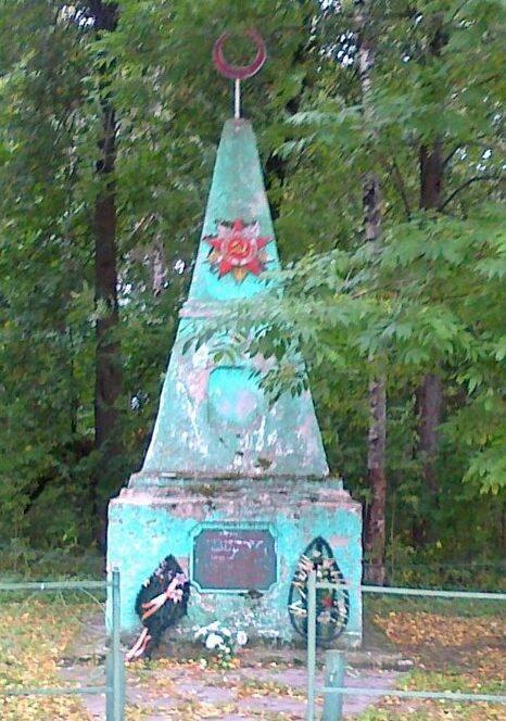 д. Гласково Демидовского р-на. Обелиск, установленный на братском захоронении советских воинов.