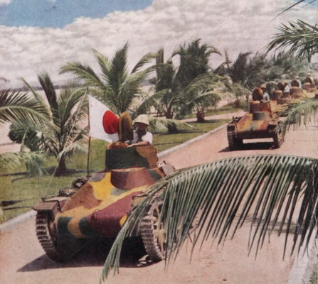 Танкетки Te-Ke 97 в Юго-Восточной Азии. 1942 г.